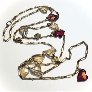 Virgins Saints & Angels Crystal Hearts Chain